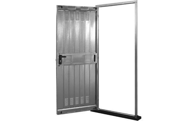 porta cantina lamiera zincata 70x200 netta - imer store
