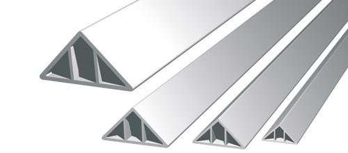 Smusso triangolare cm 2 da mt 2 00 imer store - Profili in plastica per piastrelle ...